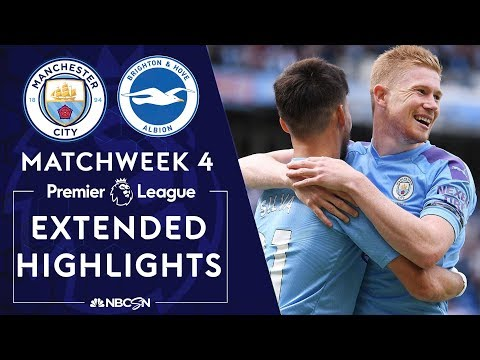 Manchester City v. Brighton | PREMIER LEAGUE HIGHLIGHTS | 8/31/19 | NBC Sports