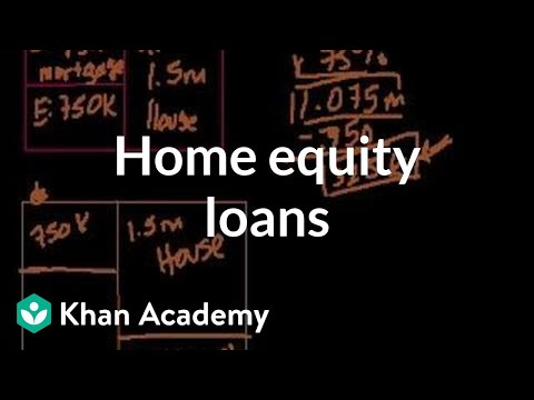 Housing equity loans | Housing | Finance & Capital Markets | Khan Academy