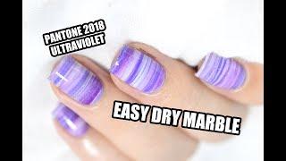 Easy Dry Marble Nail Art Tutorial - Pantone 2018 Ultraviolet || Marine Loves Polish