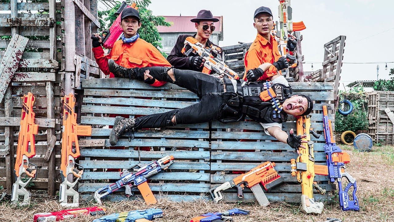 LTT Nerf War : Surprise Battle SEAL X Warriors Nerf Guns Fight Dr Ken Crazy Bandits Forbidden Area