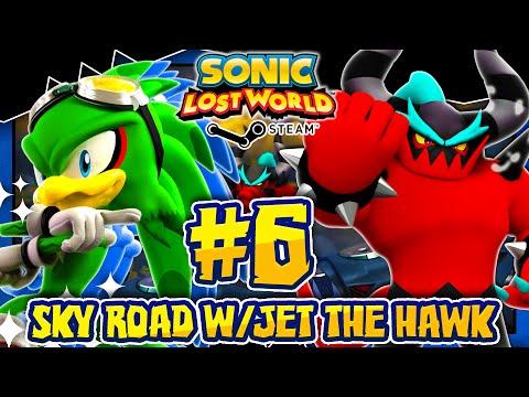 Sonic Lost World PC - (2K 60FPS) Part 6 - JET THE HAWK MOD in Sky Road