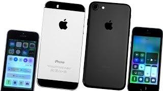iPhone 5S vs. iPhone 7 - Сравнение.  iOS 11 на iPhone 5S. vs iOS 10. Обзор - Стоит ли покупать?