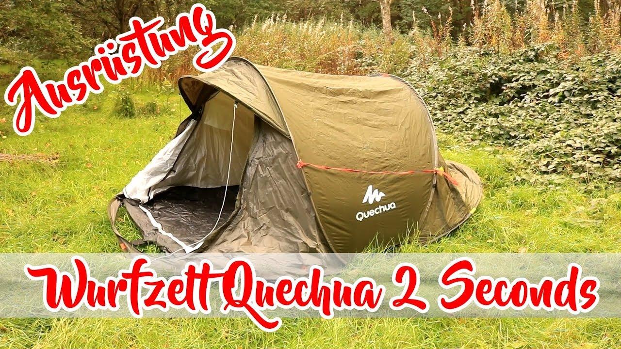 Zelt 2 Seconds : Zelt quechua seconds wurfzelt für camping und outdoor