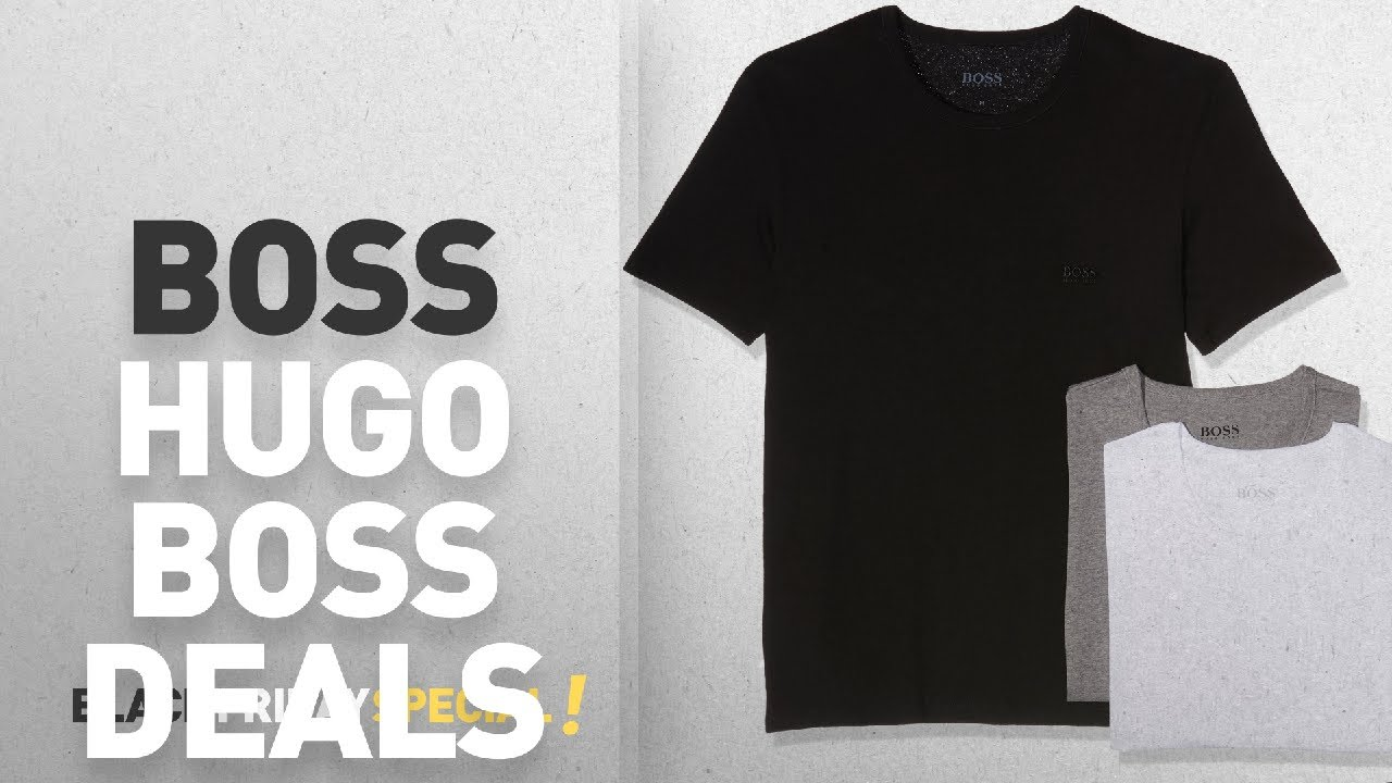 8bb54147a56 Top Black Friday BOSS Hugo Boss Deals: BOSS Hugo Men's T-shirt Rn 3p ...
