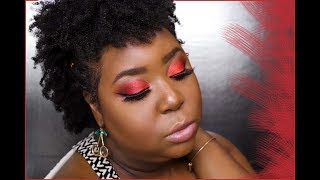 GRWM: BIRTHDAY EDITION | SULTRY RED INSPIRED MAKEUP LOOK!
