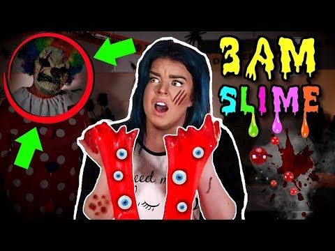 Thumbnail: 3am Slime Challenge! DO NOT MAKE SLIME AT 3AM on FRIDAY 13TH!