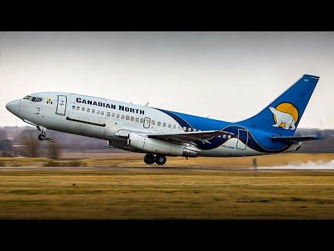 RETIREMENT FLIGHT! Canadian North 737-200 C-GOPW Final Departure From Edmonton Airport