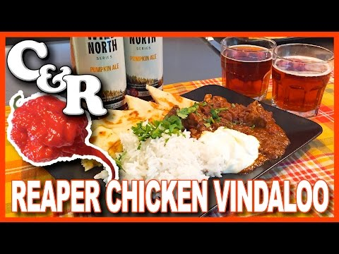 World's Hottest Chicken Vindaloo Curry with Carolina Reapers Recipe
