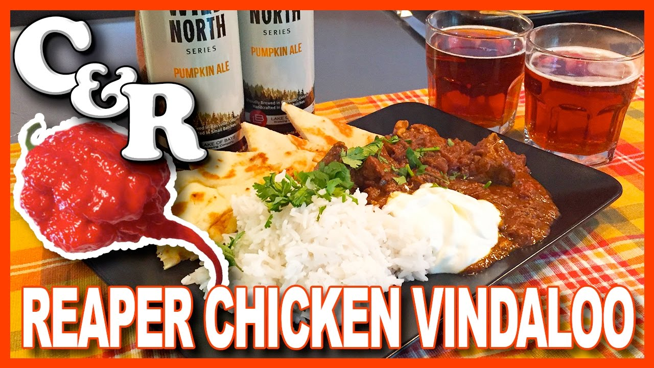 World's Hottest Chicken Vindaloo Curry with Carolina Reapers Recipe - Cook & Review Ep #25