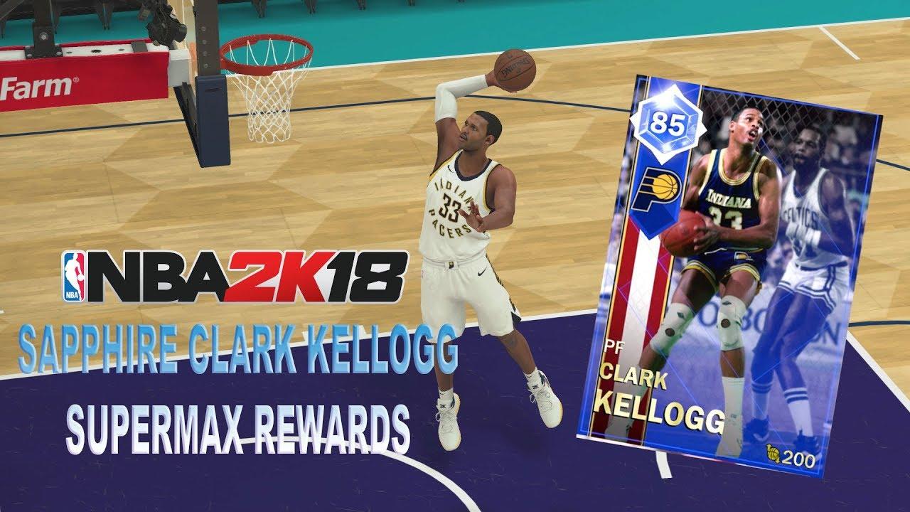 PINK DIAMOND SUPERMAX REWARDS ROUND 3 SAPPHIRE CLARK KELLOGG NBA