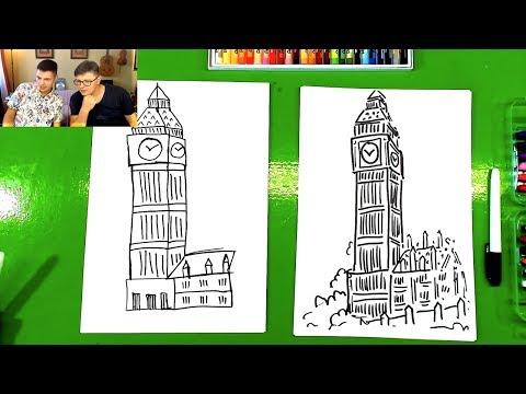 Как нарисовать биг бен легко