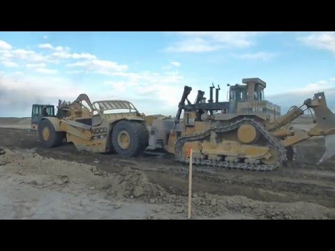 3 Caterpillar D11's & Hitachi 1200 = Mass Excavation