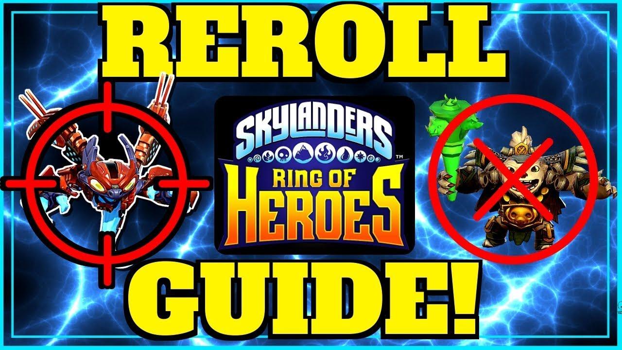 Skylanders Ring Of Heroes Reroll Guide