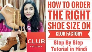 ClubFactory Footwears | How to order the Right Shoe Size on App ?