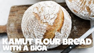 Kamut Flour Bread Recipe with Biga