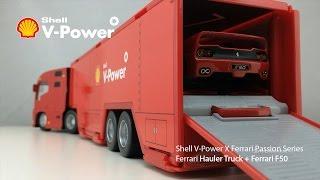 Ferrari Hauler Truck + Ferrari F50 Unboxing | Shell V-Power X Ferrari Passion Series