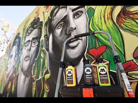 TUTORIAL - How to paint a street art mural with acrylic inks and brushes