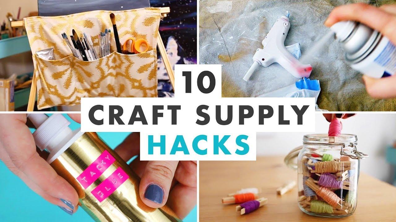 10 Craft Supply Hacks Cleaning And Organizing Diys Hgtv