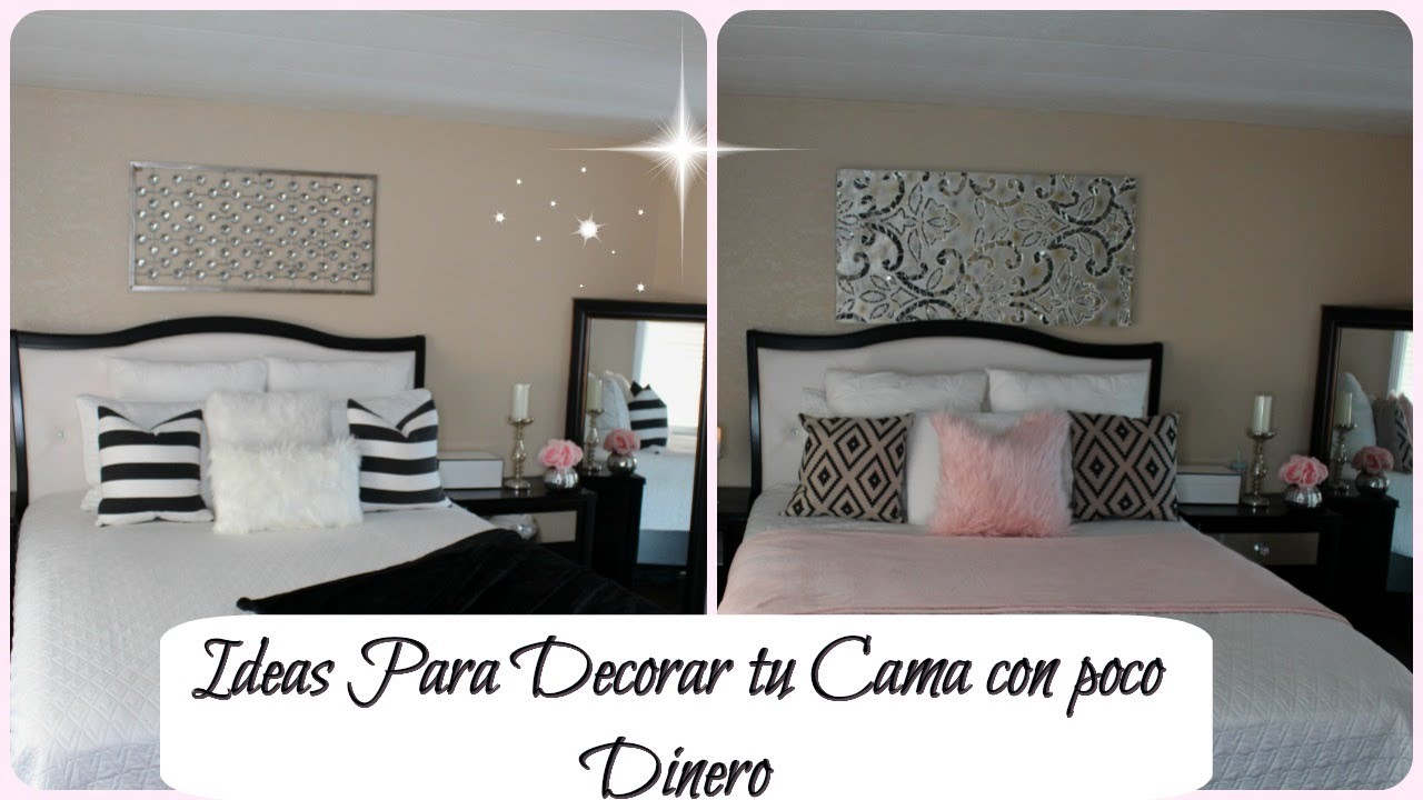 IDEAS PARA DECORAR TU CAMA ELEGANTE CON POCO DINERO YouTube