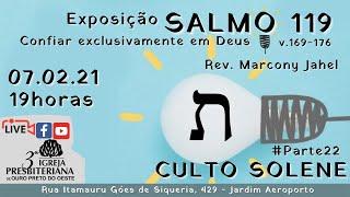 Confiar exclusivamente em Deus | Rev. Marcony Jahel