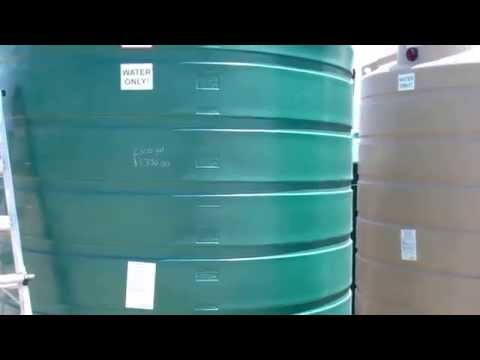 2500 Gallon Vertical Water Only Storage Tank   866-866-8611