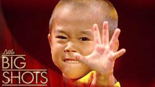 Ryusei Perfoms Bruce Lee's Game Of Death Nunchaku Scene | Little Big Shots