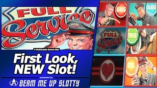 Full Service Slot - First Look, Live Play/Bonus in New Multimedia Games title