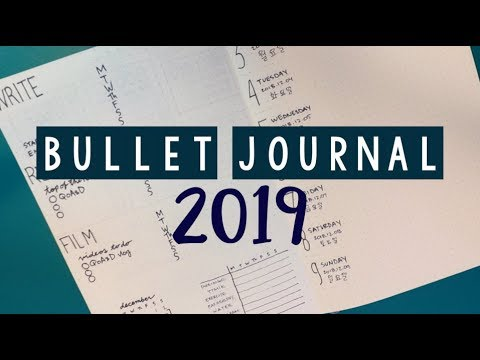 MINIMALIST BULLET JOURNAL SETUP 2019 | PLAN WITH ME