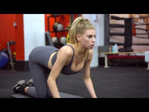Charlotte McKinney workout Fat burning Ankle Weight glute workout -How to get a model body