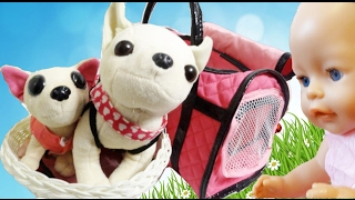 Собачки Чи чи лав и Mini Chi Chi Love распаковка игрушек Видео для детей про игрушки