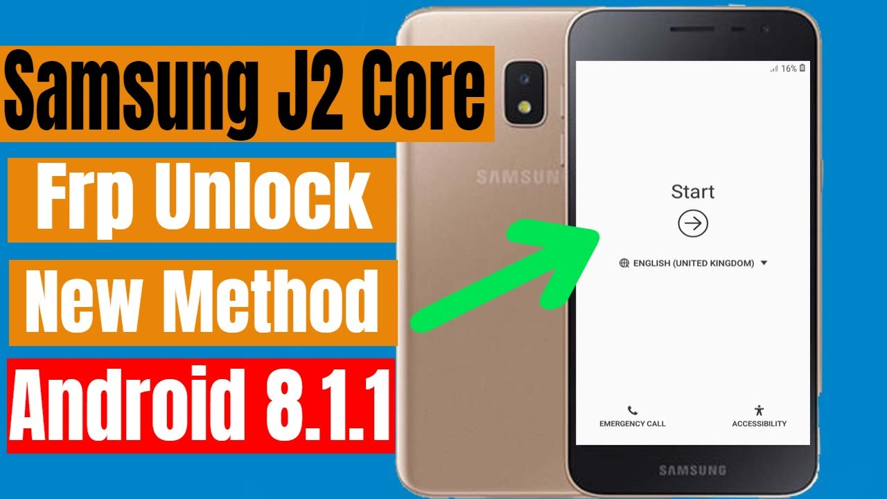 Samsung J2 Core 2018 Frp Unlock/Bypass Google Protection Lock Android 8 1 1