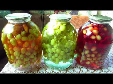 Как приготовить виноградный компот на зиму в домашних условиях