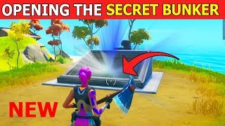 *NEW* OPENING the SECRET BUNKER! Fortnite Secret Bunker Storyline (Chapter 2)