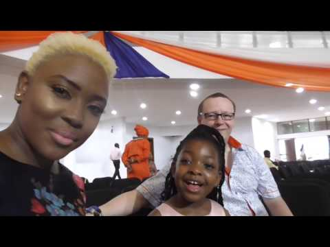 Donerry Ghana 2017 - Arrival and Don showers in the rain outside - D'Marshalls