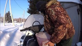 Тайга варяг 550 по глубокому снегу!!!Заводим и снова меняем свечи!!!