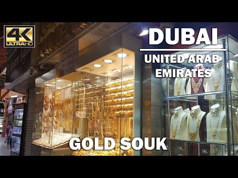 Cheap GOLD!! A Tour of the Dubai Gold Souk [4K]
