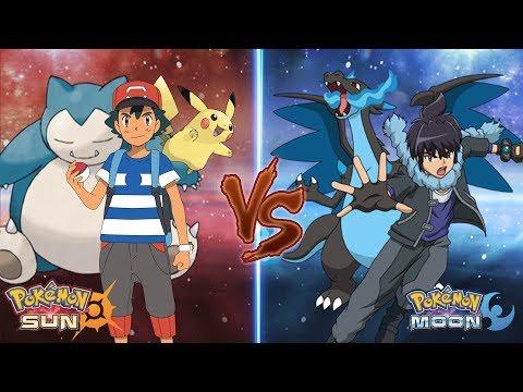 Pokemon Sun and Moon: Ash Vs Alain (Ash Best Team)