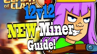 *NEW* 12v12 MINER GUIDE! TH12 3 Star - Clash of Clans Christmas/Winter Update | Itzu