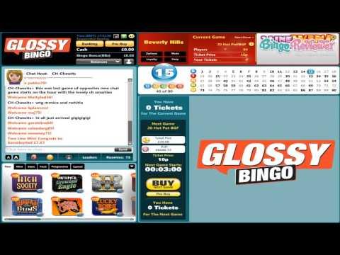 Glossy Bingo - Video Review By BingoReviewer