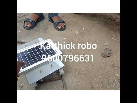 Solar train mechanical engineering project at low sun light