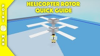 Roblox | Plane Crazy | Heli Rotor Quick Guide
