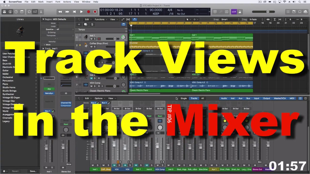 Track Views in the Mixer | LPX Two Minute Tip #06