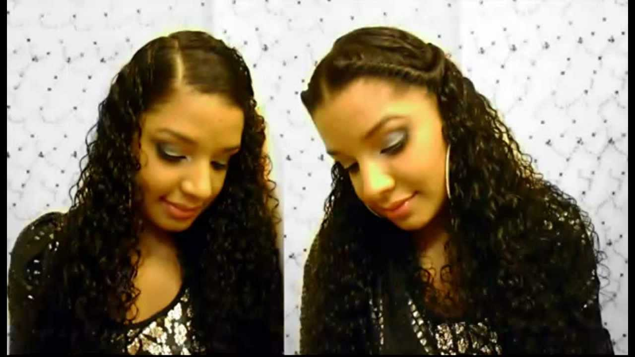 how to : 2 easy cute quick curly hairstyles tutorial : natural hairstyle : twist - side hair style :