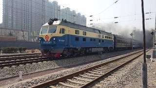 【4K画质】北京京哈线Y513次水南庄道口(踏切)通过 2019.4.4