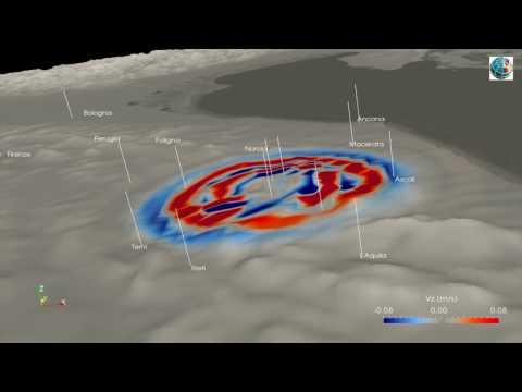 SHAKEMOVIE: propagazione onde sismiche Mw 6 5 Italia Centrale