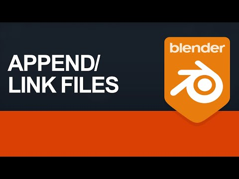 Append / Link Blend Files In 2.8 - Switch To Blender