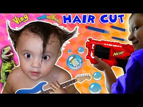 shawn's-1st-haircut-♪-funny-fails--rock-n-roll-baby-funnel-vlog