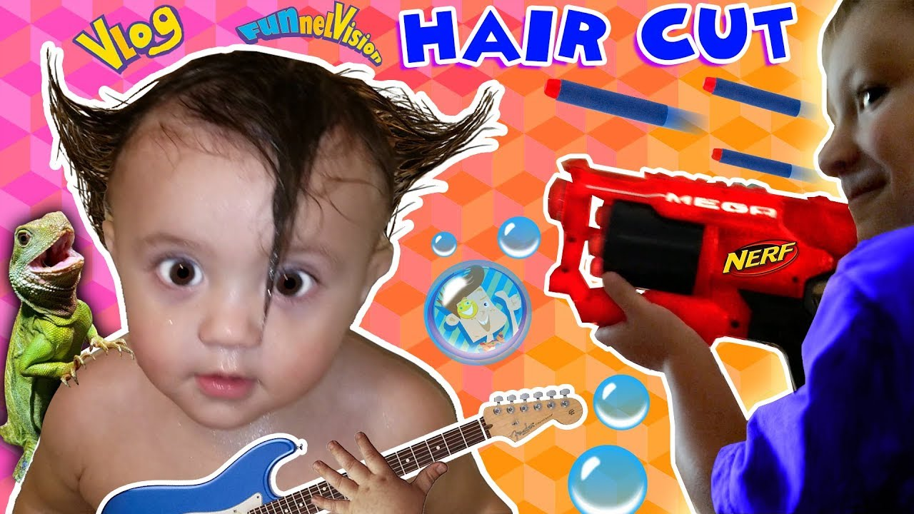 Download Shawn's 1st Haircut ♪ FUNNY FAILS  Rock N Roll Baby FUNnel Vlog