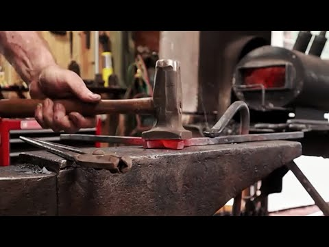 Forging a square frame using half lap joints