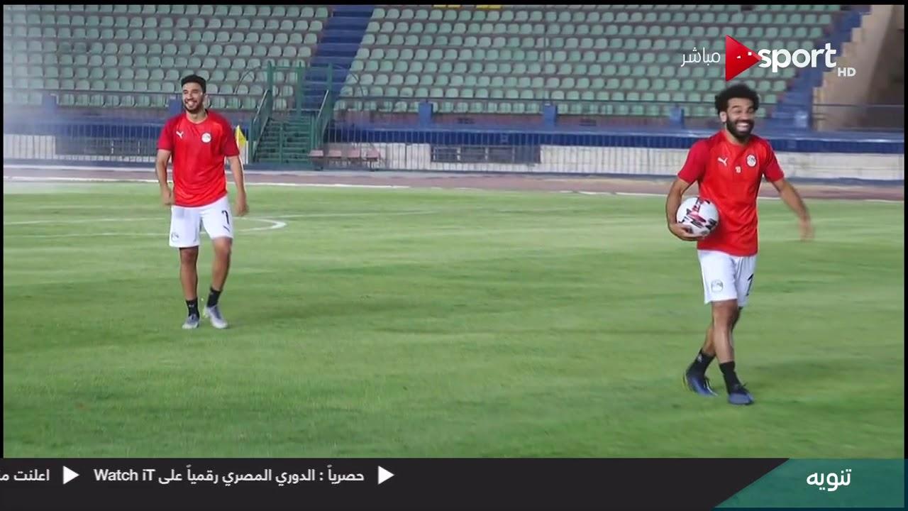 لقطة طريفة بين صلاح وتريزيجيه في تدريب منتخب مصر